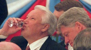 Image result for yeltsin falling' drunk